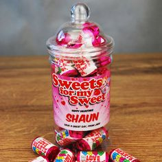 Personalised Love Hearts Mini Jar  from Personalised Gifts Shop - ONLY £7.99