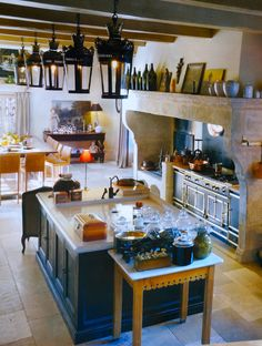 Beautiful country kitchen in Vaucluse, France