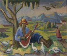 Maggie Laubser - South African artist South African Artists, Animal Paintings, Art Paintings, Old Master, Bird Art, Art Day, Playing Guitar, Artwork, Marlene Dumas