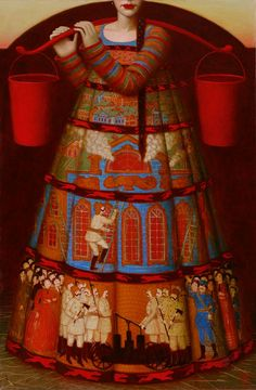 Andrey Remnev - Contemporary Artist - Moscow - Pozhar-Devka