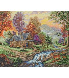 Anchor Maia counted-cross-stitch Kit Mountain Retreat