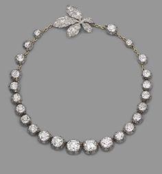 Emperor Franz Joseph gave this diamond necklace to his niece Archduchess Elisabeth of Austria when she married Prince Aloys of Liechtenstein