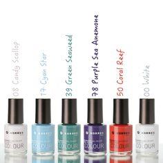 Korres Sea Flower Nail Color Collection #korres #nail polish #nail color
