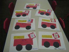 Fire truck craft preschool preschool playbook fun with fire Fireman Crafts, Firefighter Crafts, Fire Safety Crafts, Fire Safety Week, Preschool Arts And Crafts, Crafts For Kids, Daycare Crafts, Abc Crafts, Fall Preschool