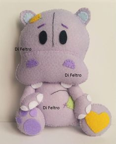 Personagem Hipopotamo da Apostila 1 - Bichinhos Baby - Di Feltro