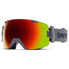 Smith Snow Goggles IOX Charcoal Red Sol X Mirror