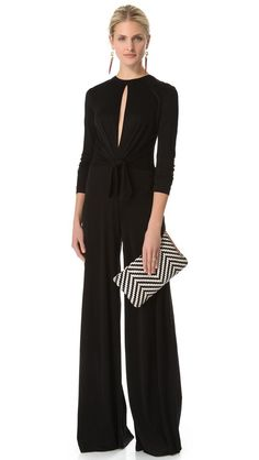 4dc7e34772dc9a Not usually a fan of jumpsuits but this one is so sophisticated and  beautiful - Issa Long Sleeve Jumpsuit
