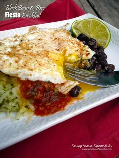 Black Bean & Rice Fiesta Breakfast ~