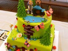 Masha and The Bear Birthday Cake ideas Fairy Birthday Cake, Adult Birthday Cakes, Bear Birthday, Crazy Cakes, Masha Cake, Fairy House Cake, Masha Et Mishka, Mom Cake, Masha And The Bear