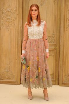 Marina Ruy Barbosa wearing a Valentino look from the Spring 2017 Collection to the Valentino Spring/Summer 2017 Fashion Show on October 2nd 2016.