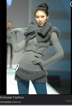 Love this... This is knit fashion forward...