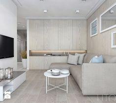 CAPPUCCINO Z NUTĄ LOFTU - Średni salon, styl nowoczesny - zdjęcie od UTOO- pracownia architektury wnętrz i krajobrazu