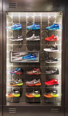 Wholesale nike retail interior flyknit lunar 2 nikestore westfield stratford by millington associates Pos Display, Display Design, Visual Merchandising, Nike Retail, Flyknit Lunar, Clothing Store Design, Shoe Wall, Displays, Showroom Design