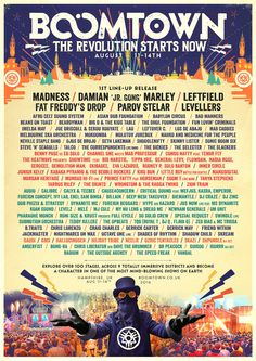 First 100 acts for BoomTown 2016