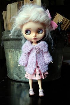Blythe Doll Knitted Boucle Jacket