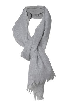 Gossamer-thin scarf with fringes