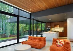 Cedarvale Ravine House by Drew Mandel Architects | HomeDSGN, a daily source for inspiration and fresh ideas on interior design and home decoration.