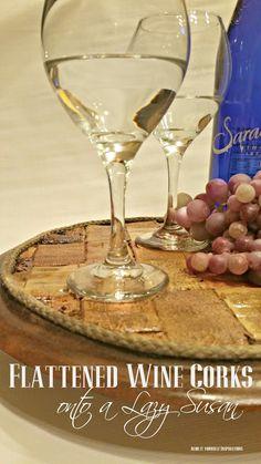how to flatten wine corks
