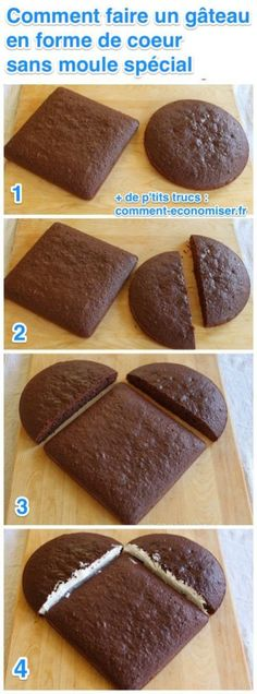 Learn how to make how to make a heart shaped cake without a heart shaped cake pan - it's so easy! All you need are cake pans that are probably already in your kitchen. Think Food, Love Food, Cupcakes, Cupcake Cakes, Heart Shaped Cake Pan, Cake Recipes, Dessert Recipes, Cake Decorating For Beginners, Cake Shapes