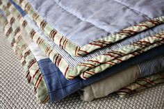 I have my stack of daddy's shirts ready and waiting...I just need to get up the guts to attempt a quilt! Maybe I'll start smaller...