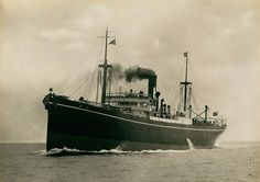 SS Min undergoing sea trials 1922. Built by John Readhead & Sons in their West Yard South Shields for Mercantile SS Co Ltd(E Hain & Sons), St Ives. This 4694 grt Cargo Ship was completed in July '22. 400ft long, 53ft beam & 26ft draught. She was powered by a triple cylinder steam expansion engine gave 475 nhp to her single screw . Transferred to Hain SS Co Ltd in '23. Renamed SS Treminnard in 36. Sank on 02/08/42 after being torpedoed by U160 whilst in ballast from Alexandria to Trinidad.