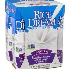 Rice Dream Vanilla Rice Drink. Non GMO project verified. Excellent source of calcium &vitamin.