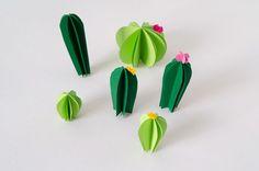 DIY Cactus de papel · DIY Paper cactus · Fábrica de Imaginación · Tutorial in Spanish | Beautiful Cases For Girls