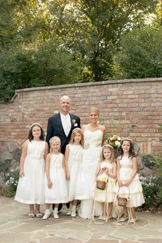 How perfect are the children in this wedding????  An outdoor wedding with butterflies and pops of color | Brideside  #brideside #wedding #style #details #love #flowergirls #cute