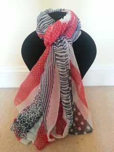 Red, white and blue scarf
