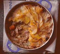 Swede-topped hot pot