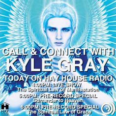 Call in and be part of one of three Hay House Radio shows Kyle Gray is recording today (Monday 28 July)! Details here: https://www.facebook.com/HayHouseUK/photos/a.144179836506.122282.17424511506/10152185749416507/?type=1&theater