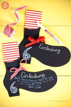 #Kindergeburtstag #Pippi #Langstrumpf #Einladungskarte #Schuhe#kids #birthday #kidsbirthday #invitation #Longstocking