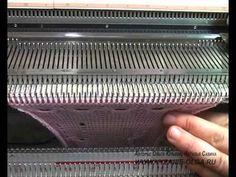 Машинное вязание - Вязание носков - YouTube
