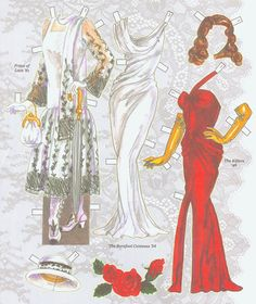 AVA GARDNER 3* 1500 free paper dolls The International Paper Doll Society Arielle Gabriel artist ArtrA  Linked In QuanYin5 *