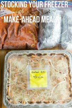 Plan Ahead Meals, Make Ahead Freezer Meals, Dump Meals, Freezer Recipes, Premade Freezer Meals, Easy Meals, Easy Recipes, Bulk Cooking, Batch Cooking