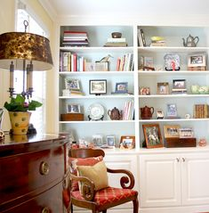 Home Tours | Beth and Charles Fowler love the painted backs of the bookcases!