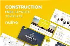 Free Construction Keynote Presentation Template Keynote, Presentation Templates, Construction, Free, Building