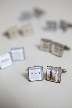 DIY wedding // learn how to make custom wedding cufflinks ~ they're so easy you'll want to make them for your entire bridal party!