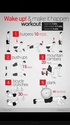 Wake up and workout!