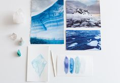 Get inspired by nature: watercolors and real live places on earth!