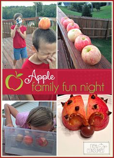 Got a few apples? Put them to good use this weekend and have an Apple family fun night!