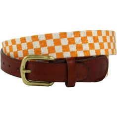 University of Tennesseee Checkered Needlepoint Belt in Orange and White by Smathers  Branson. Not much can top this belt if you are a Volunteer! #Smathers #Branson #preppy #belt #Tennessee http://www.countryclubprep.com/university-of-tennesseee-checkered-needlepoint-belt-in-orange-and-white-by-smathers-branson.html