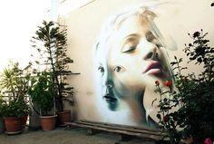 """+ Arte :     O belíssimo """"street art"""" de iNO."""