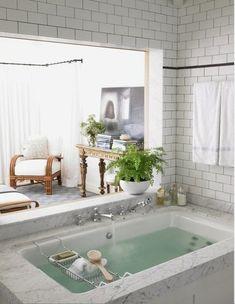 Bath and bedroom open