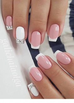 50 Elegant Nail Art Designs For Women 2019 - Page 30 of 50 - Chic Hostess French Tip Nail Art, French Tip Nail Designs, Square Nail Designs, Fall Nail Art Designs, Acrylic Nail Designs, Acrylic Nails, French Art, French Toes, French Manicures