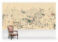 Chinoiserie Mural | Mural Wallpaper | MuralSources.com