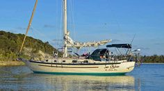 'Sea Glass', a Pacific Seacraft 37, a highly regarded long-distance cruising yacht and live-aboard sailboat.