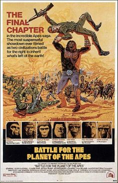 Battle for the Planet of the Apes (1973) #5. One sheet poster.