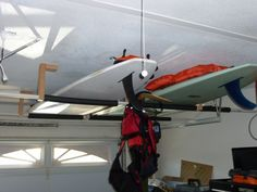 paddle board ceiling storage - Google Search