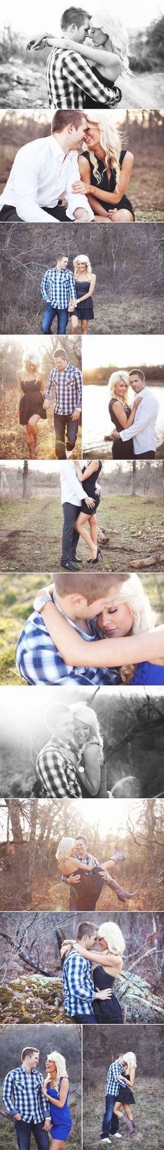 some pretty outdoor engagement poses